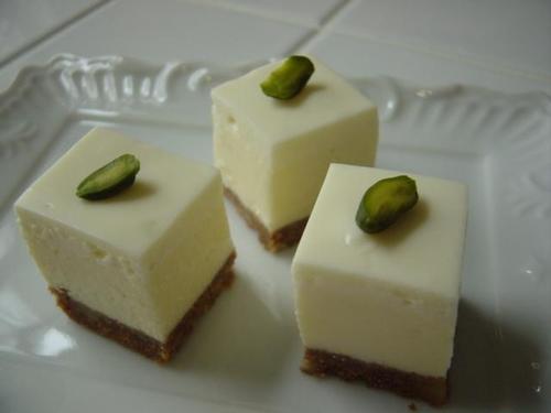 2010年 6月レッスン クリームチーズとサワークリームの2層のチーズケーキ